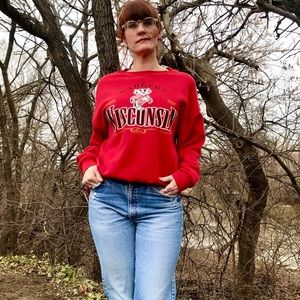 Vintage Lee Sport Wisconsin Badgers Sweatshirt